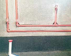 地排水台面盆排自来水管