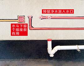 厨房水斗排自来水管