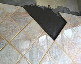 斜贴10x10小方砖