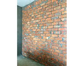 泥工砌隔断砖墙