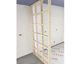 木柜架隔断墙