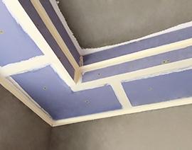 吊顶的接缝和边角处理
