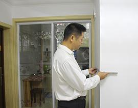 墙面阳角角尺度检查