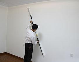 墙面斜向平整度检查