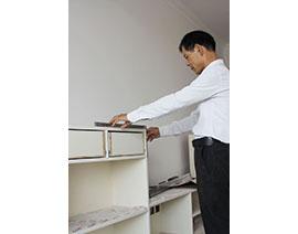 柜子外柜角尺度检查