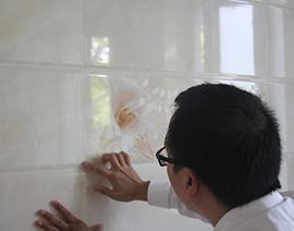 墙面瓷砖批缝检查