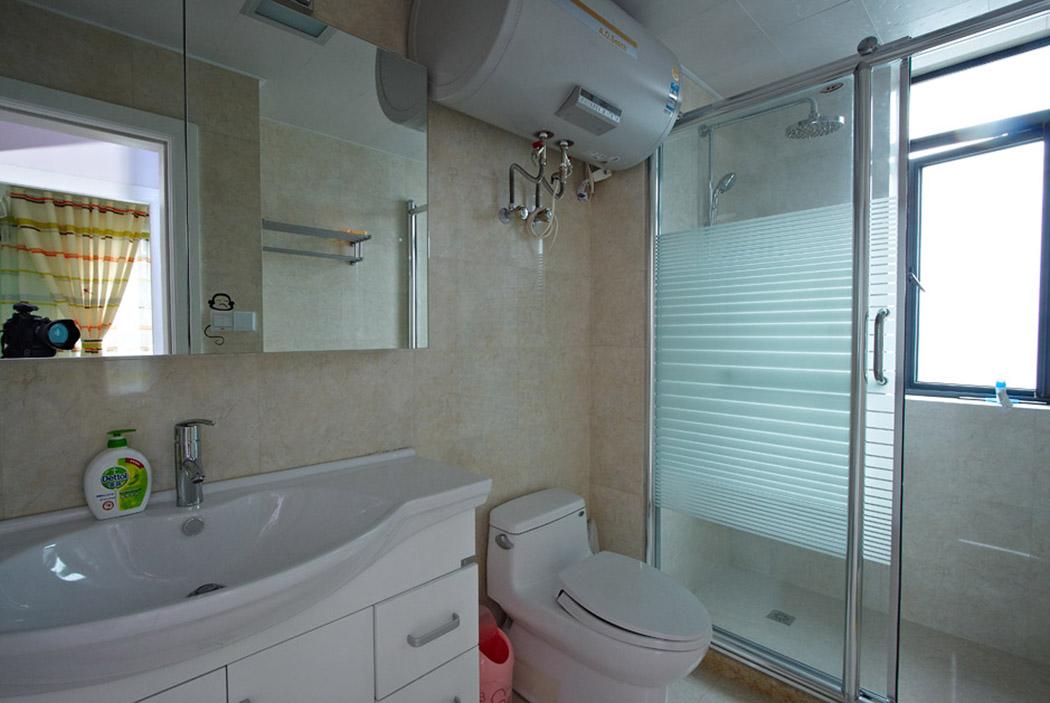 合理的布局,精湛的技艺,让整个卫生间看上去,即合理又舒适。