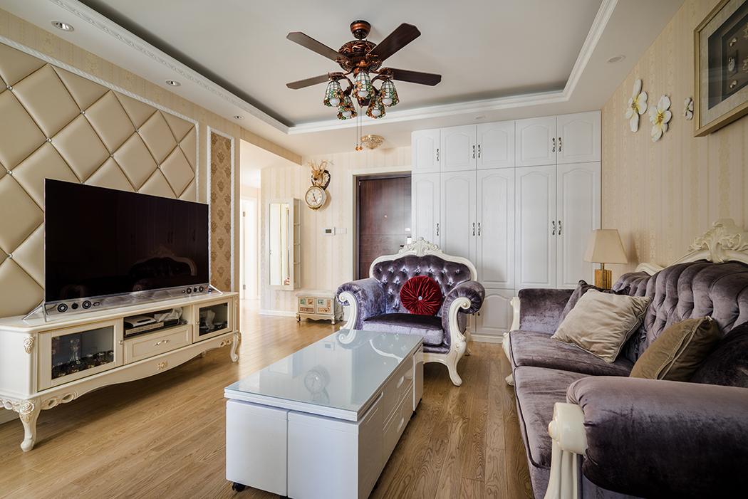 虹湾路55弄彩虹湾新房装修混搭风格,简欧与简美的完美结合