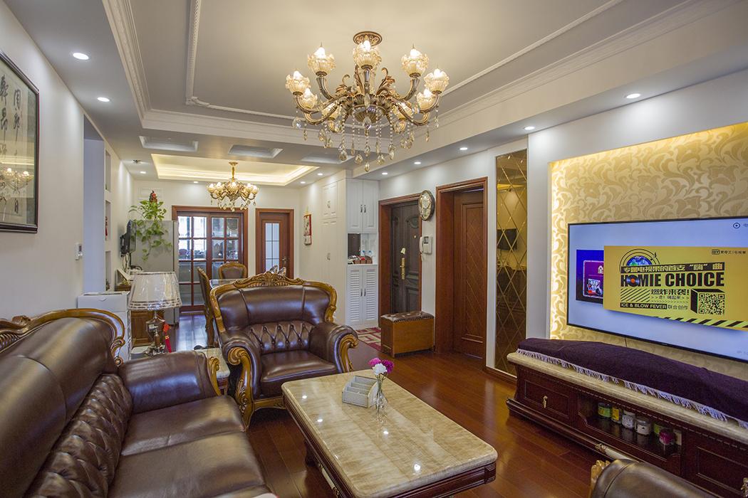 三泉路999弄三泉家园新房装修混搭风格_欧式和中式的碰撞