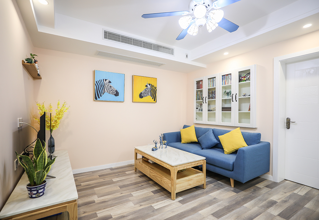 曲沃路470弄新德公寓二房一厅地中海风格新房装修