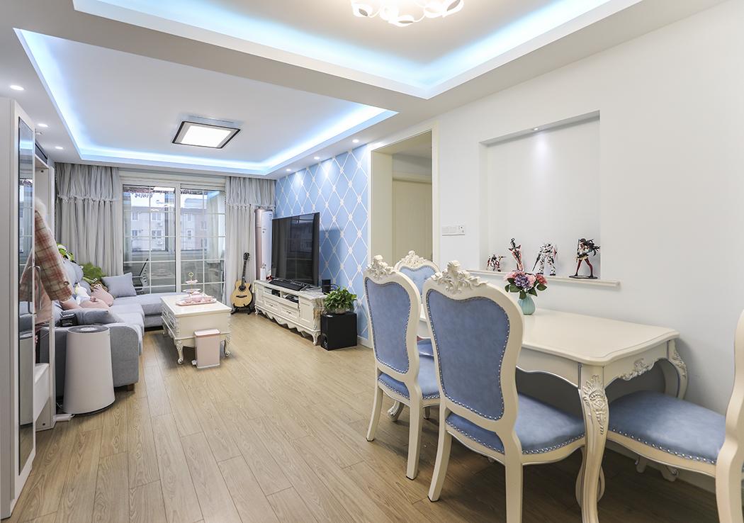 共富路共富一村简欧65平实用温馨二房一厅婚房装修