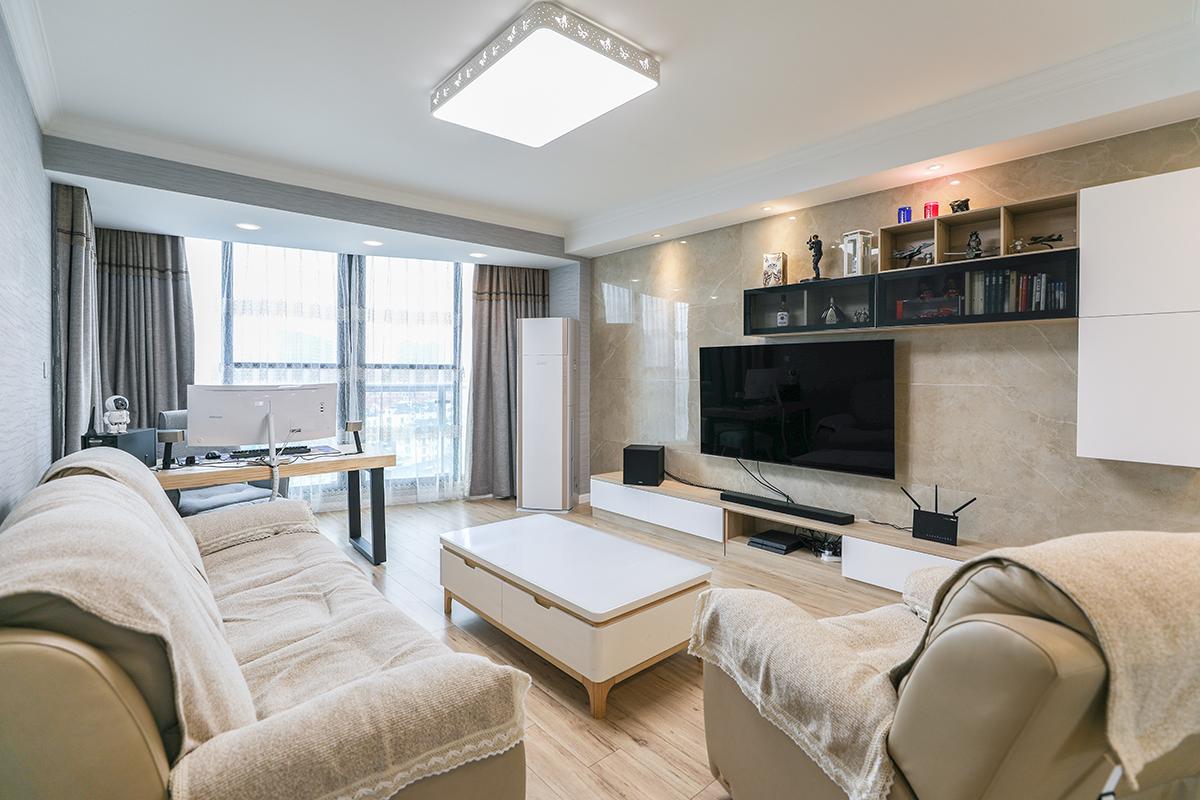 新房装修北欧现代混搭风格二房一厅逸仙路3508弄尚城汇景园