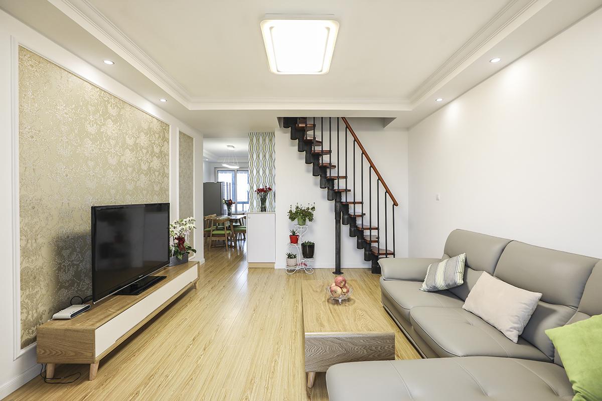 梅川路1566弄梅川雅苑二手房装修现代混搭的风格