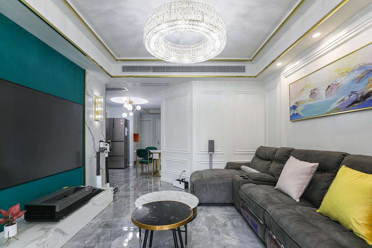 香逸湾4期轻奢风格新房装修